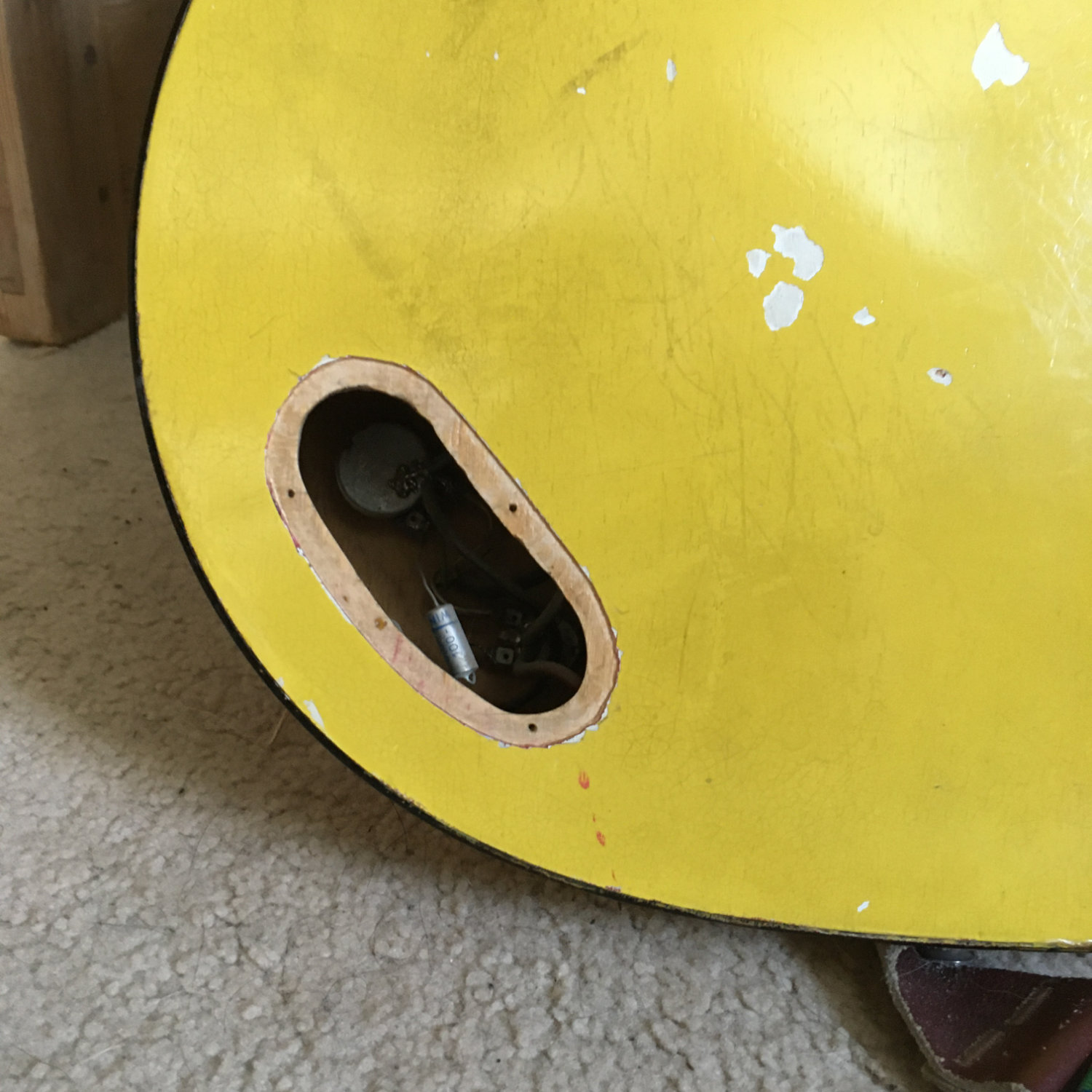 hole in the back of the yellow tornado
